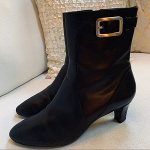 Cole HAAN Leather Ankle Boots Heeled Sz 10B VGUC